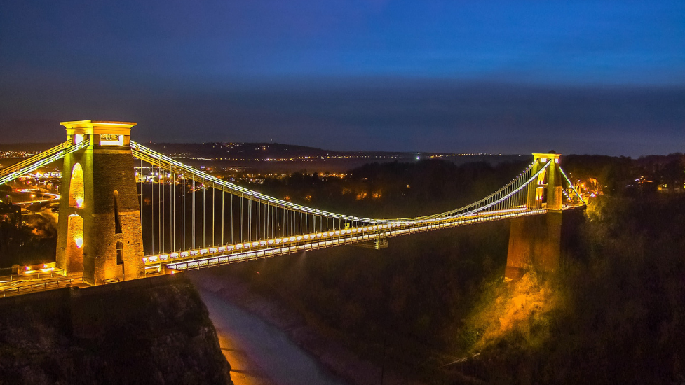Clifton Suspension Bridge over a body of water