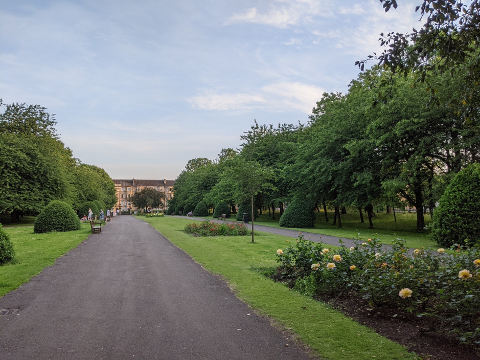 Alexandra Park, Path, Trees, Flowers