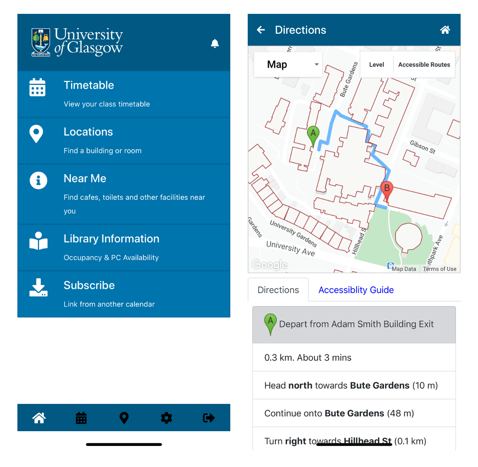 a screenshot of UofG Life App