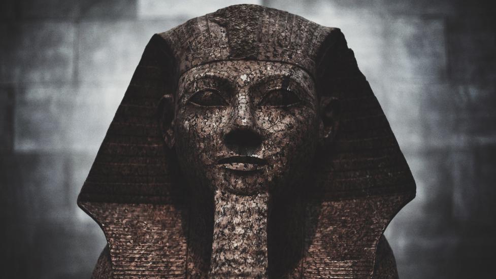 a stone statue