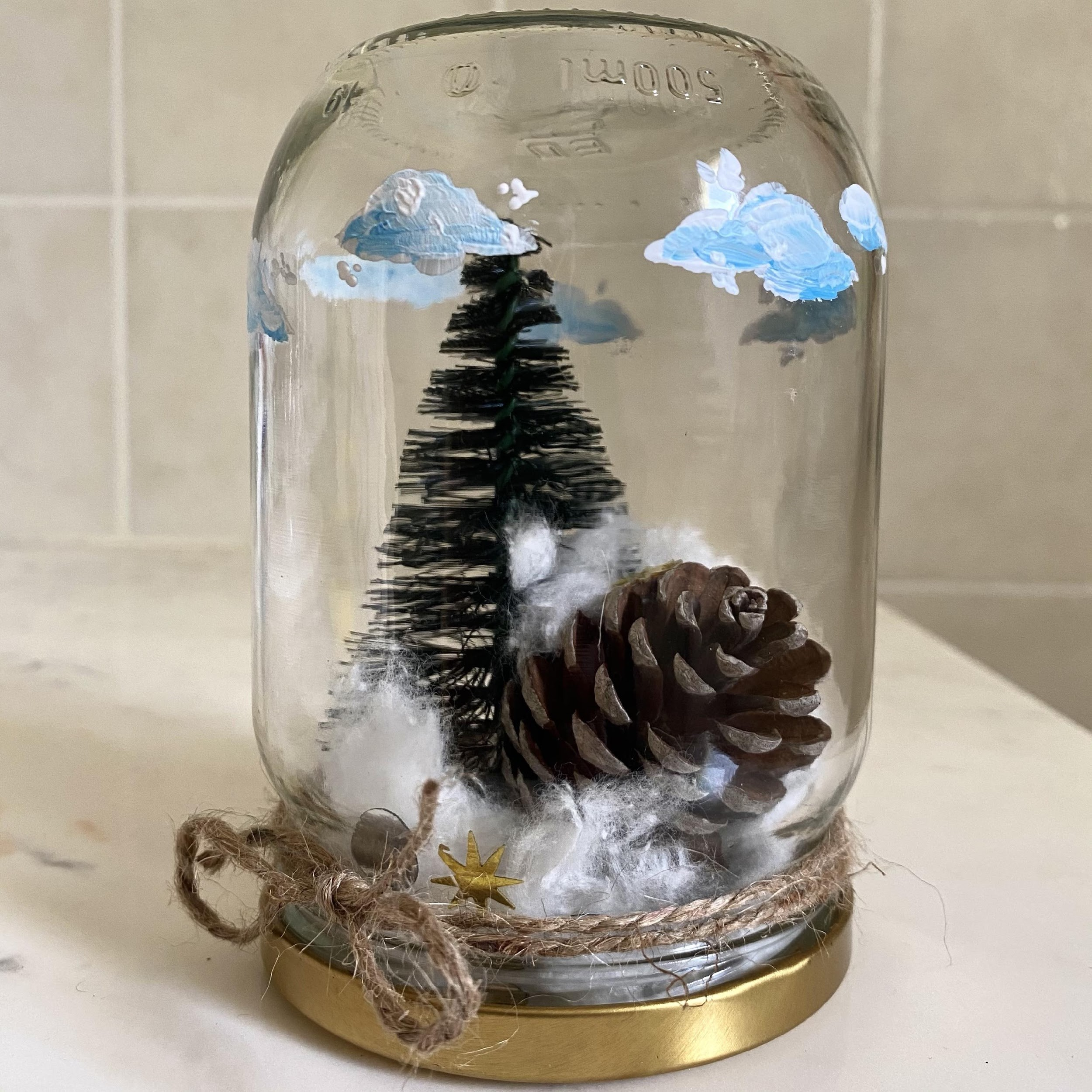 Finished snow globe