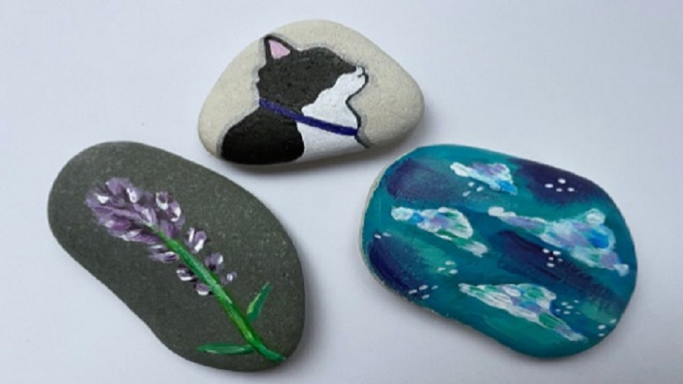 all 3 painted stones