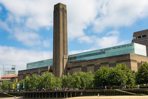 a tall building in Tate Modern
