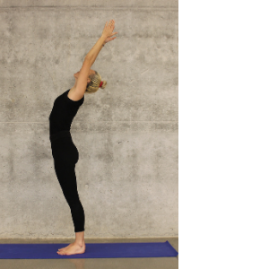 a person doing a yoga pose