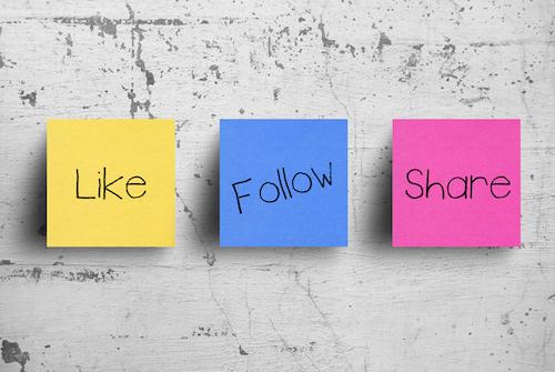 Like, follow, share