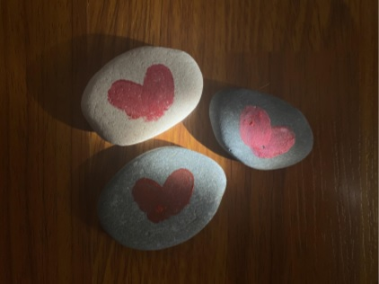 stones with hearts