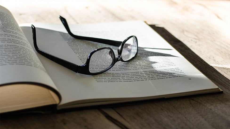 a close up of a book