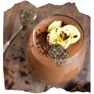 a chocolate smoothie