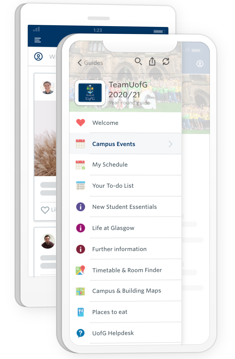 a screenshot of team uofg app