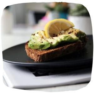 avocado on toast on a plate