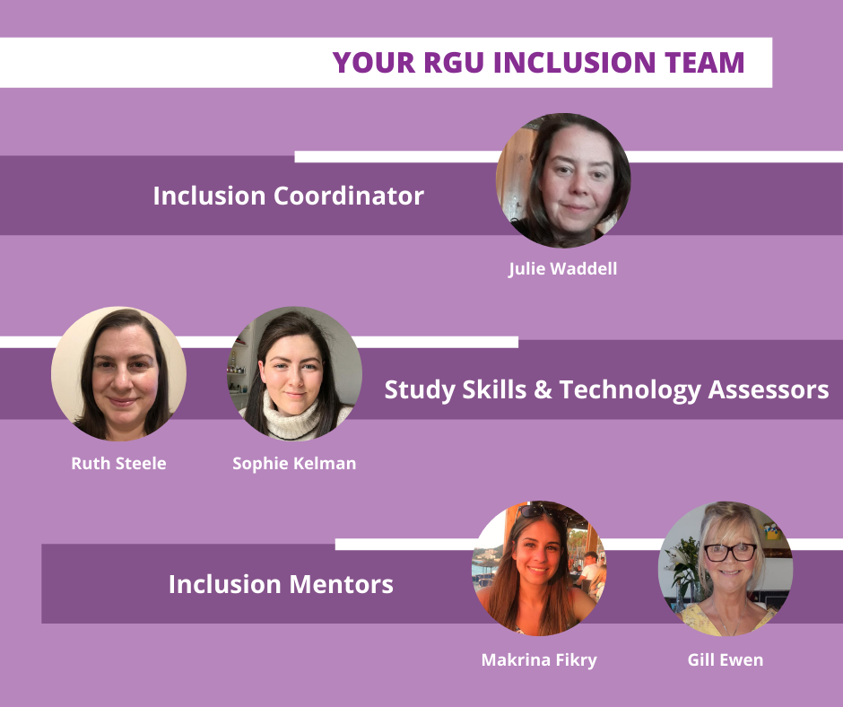 a list of Inclusion Team members with photos