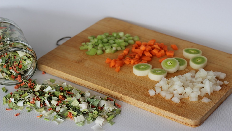 food on the cutting board