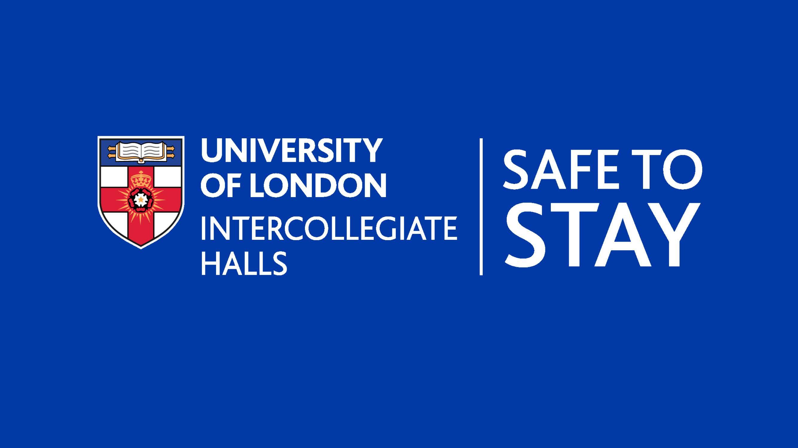 Safe to Stay logo on blue background