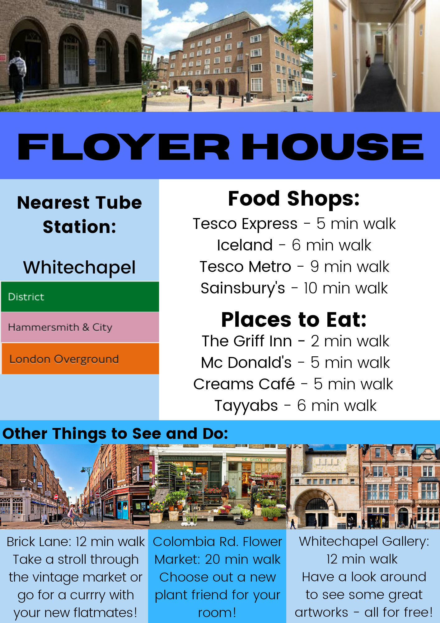 Floyer House area guide