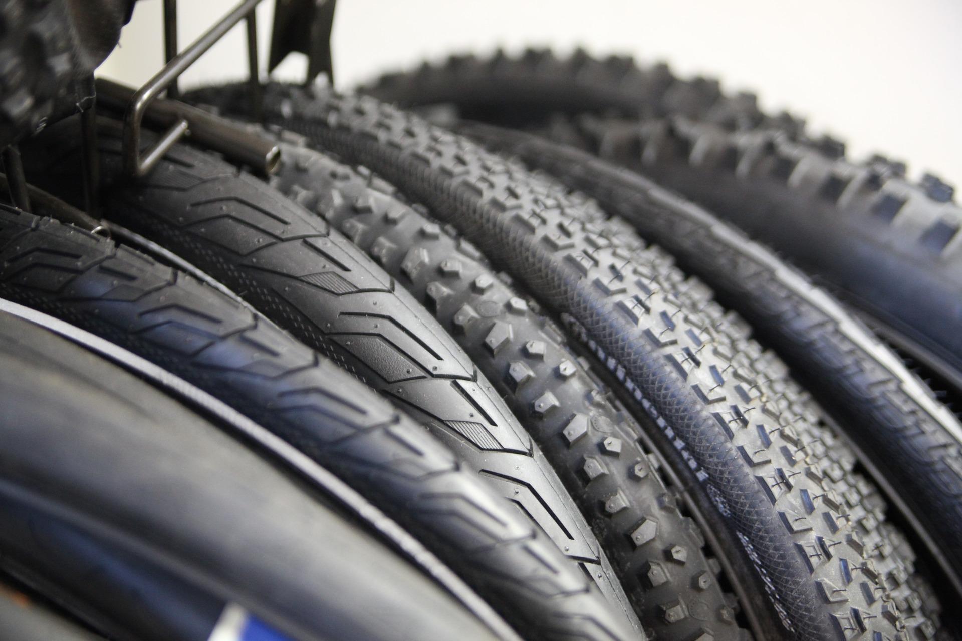 a close up tyres