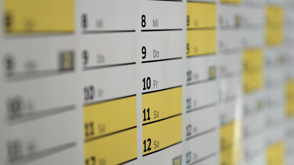 calendar of dates