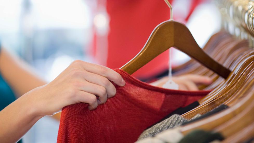 a person clothes shopping