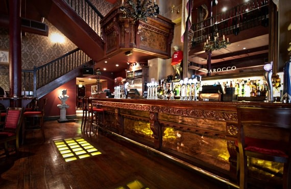 inside of a pub