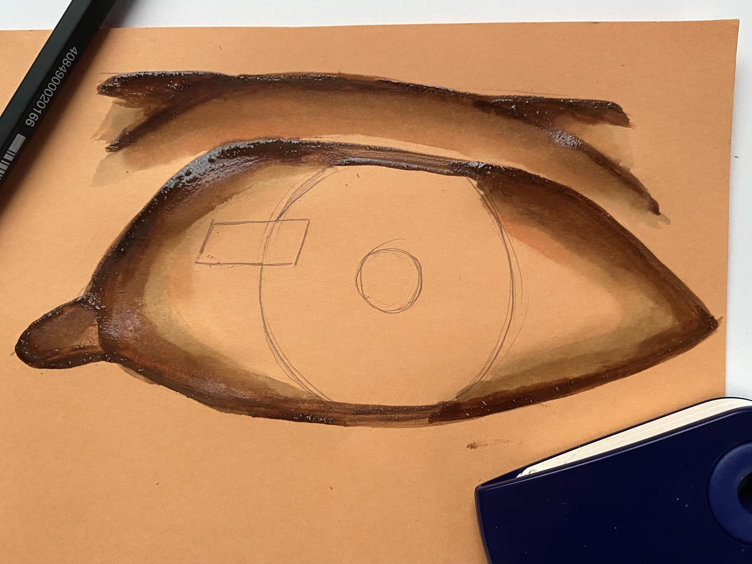 a painting of an eye