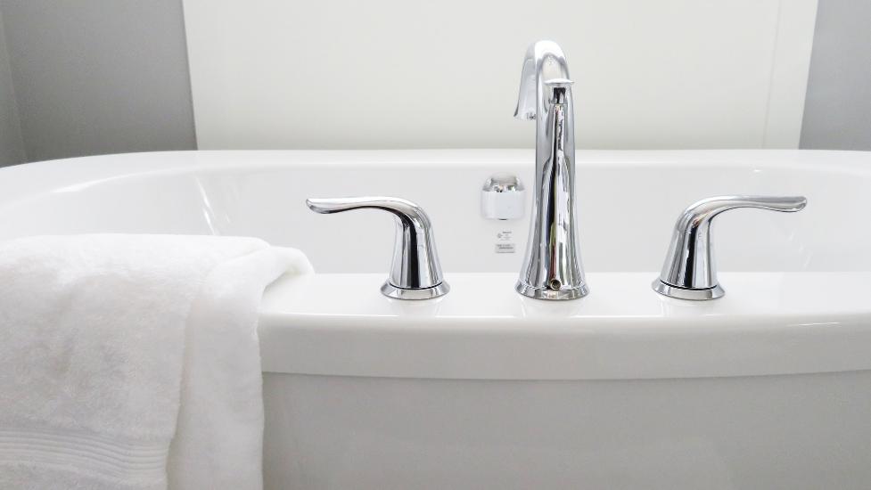 taps on a bath