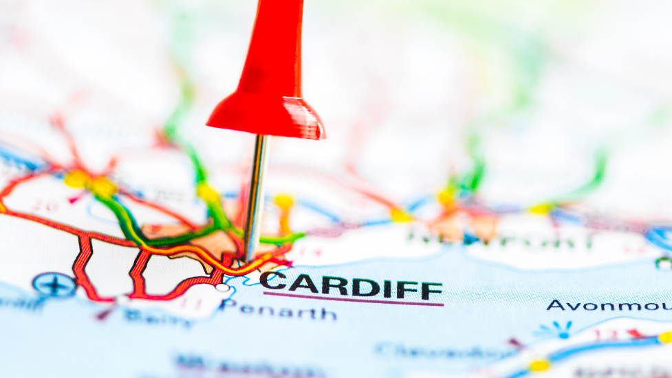 a map of cardiff