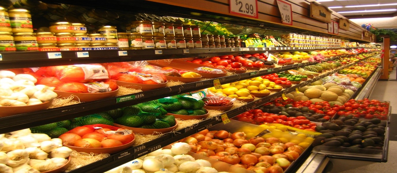 a store filled with lots of different types of food