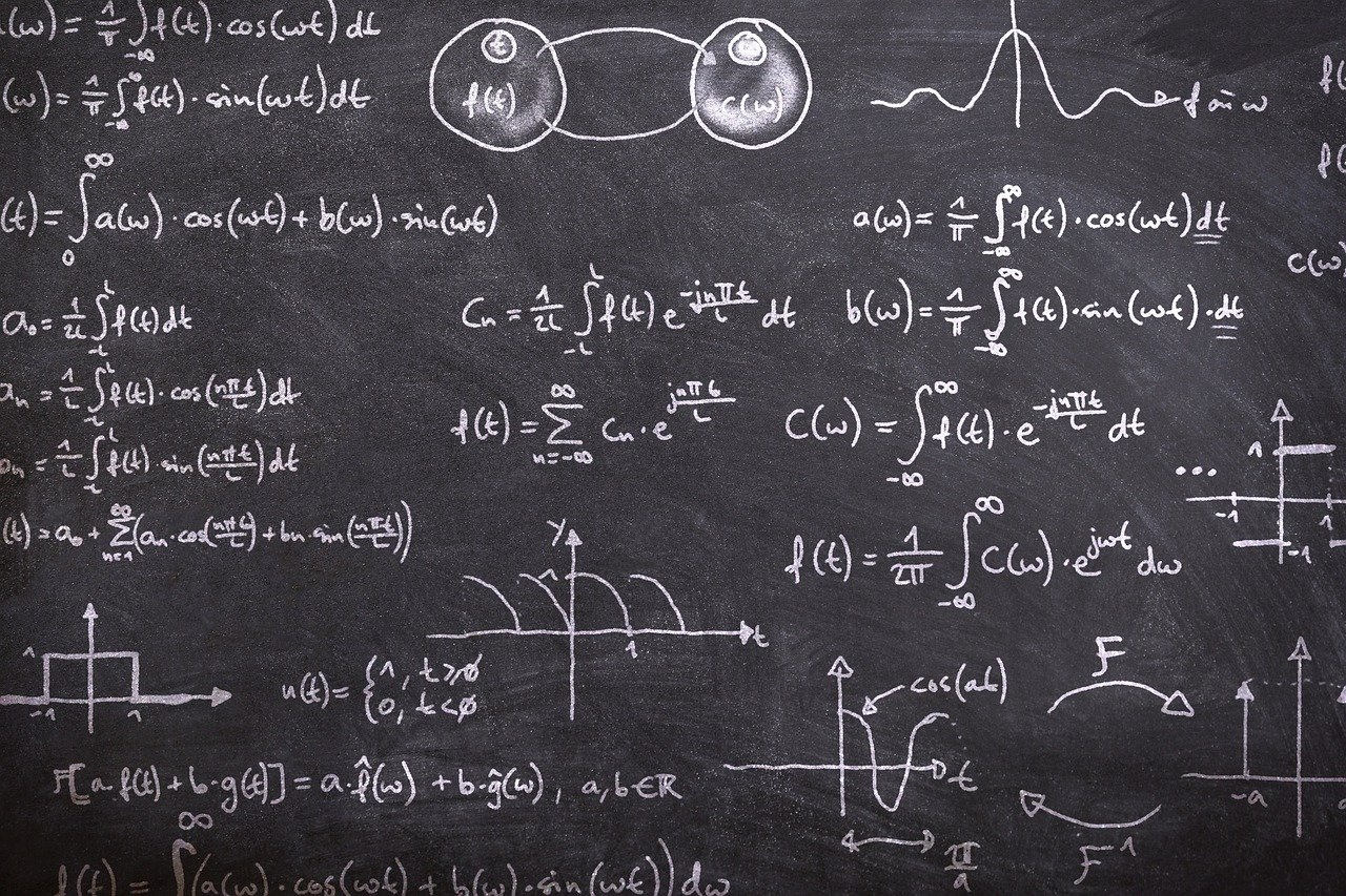 blackboard with mathematical equations