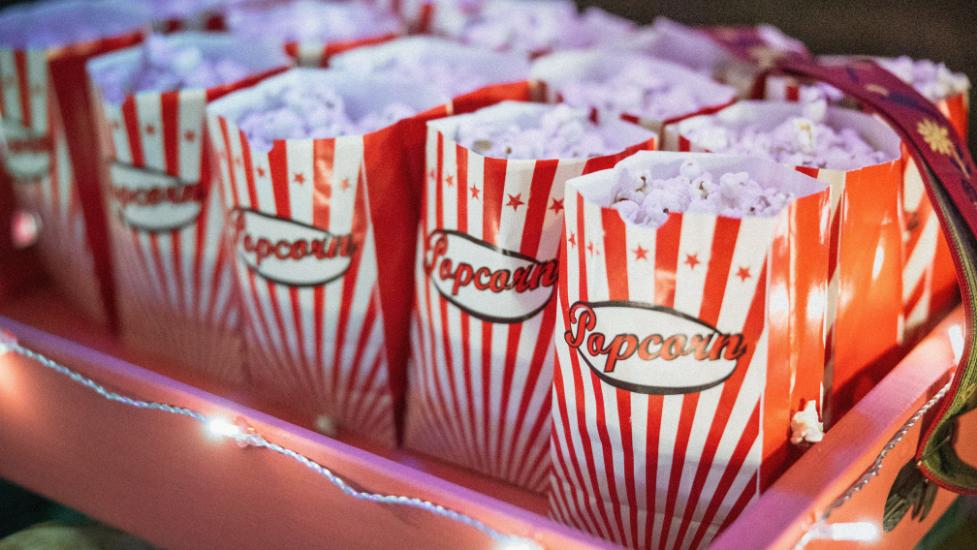 a tray of popcorn