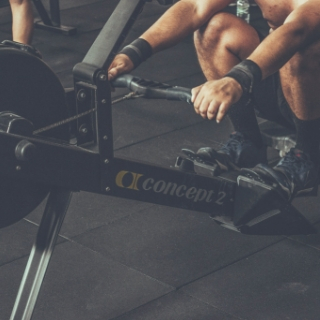 a person using gym equipment