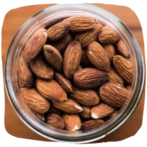 a close up of almond nuts