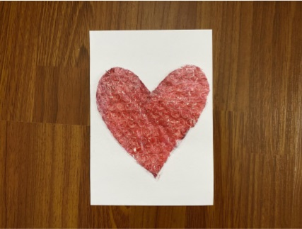 a close up of painted heart
