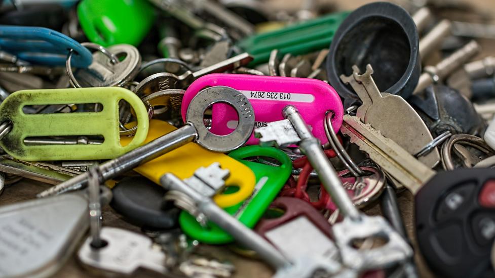 a close up of keys