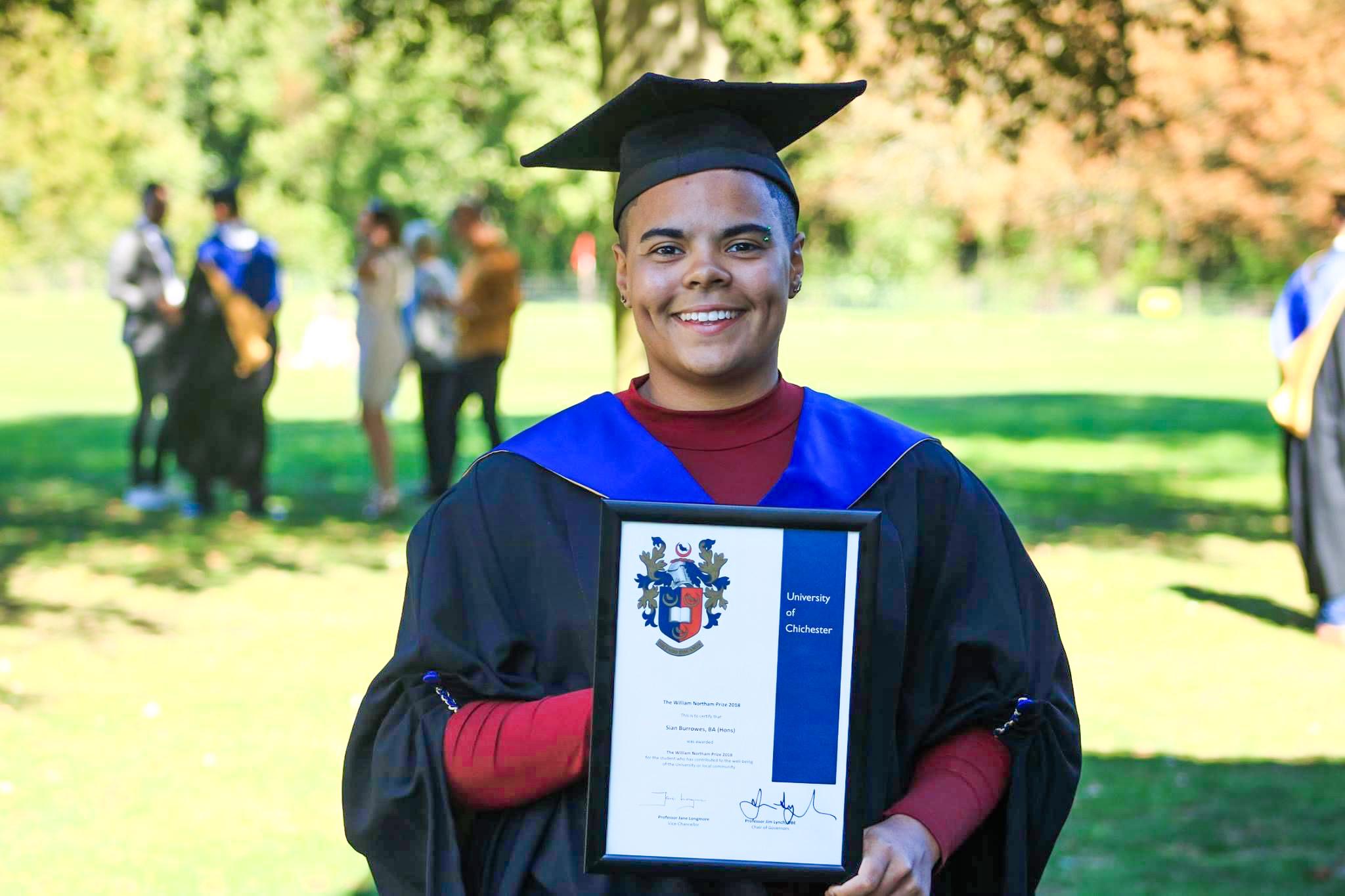 Sian Burrowes at Graduation