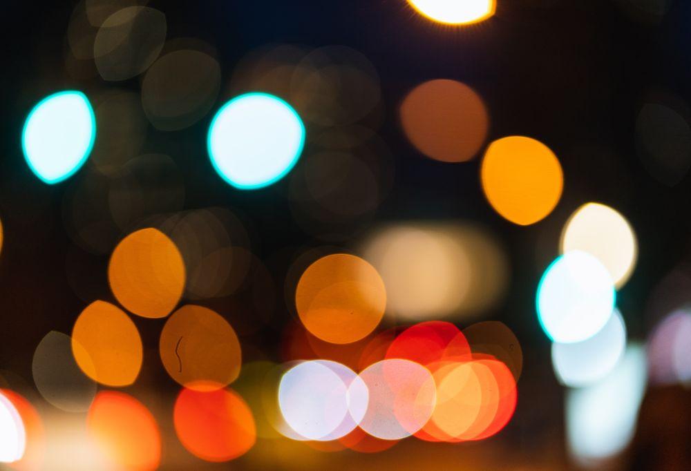 a close up of a blurred lights
