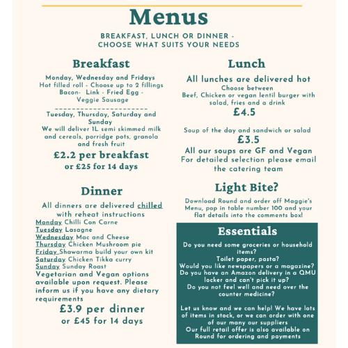 a menu