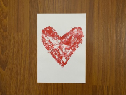 card with paint drying