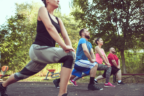 Outdoor fitness session