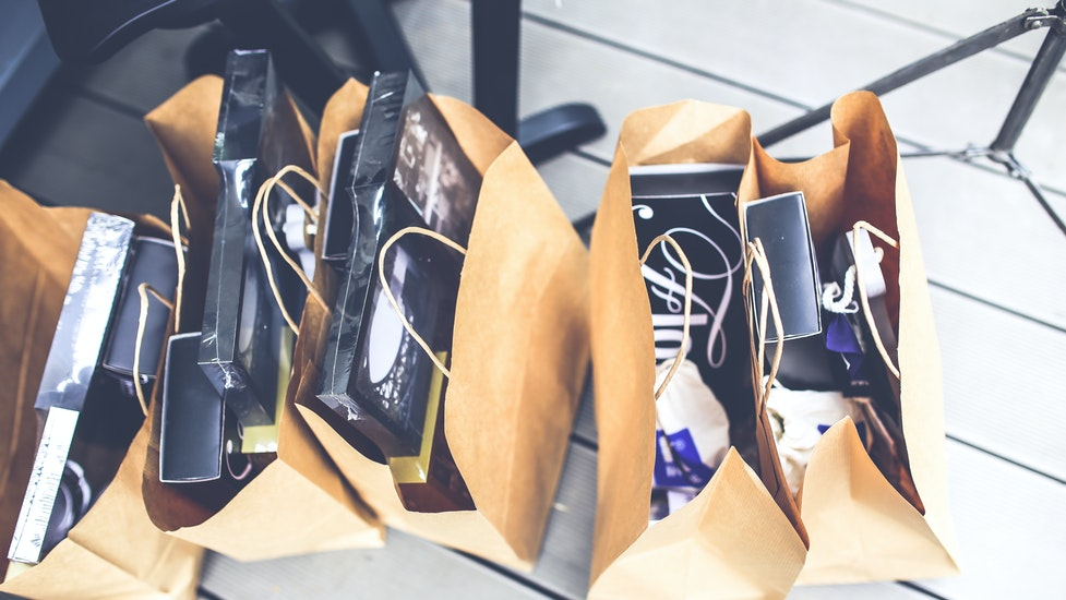 items in shopping bags