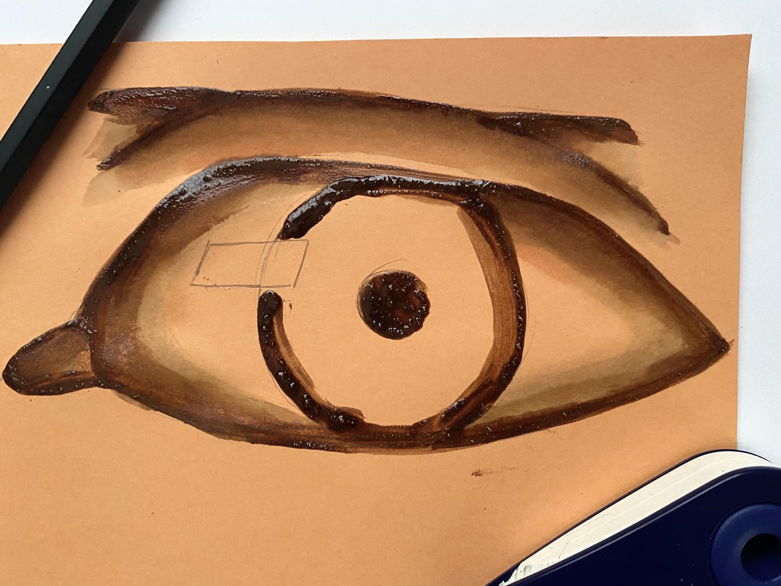 painting of an eye