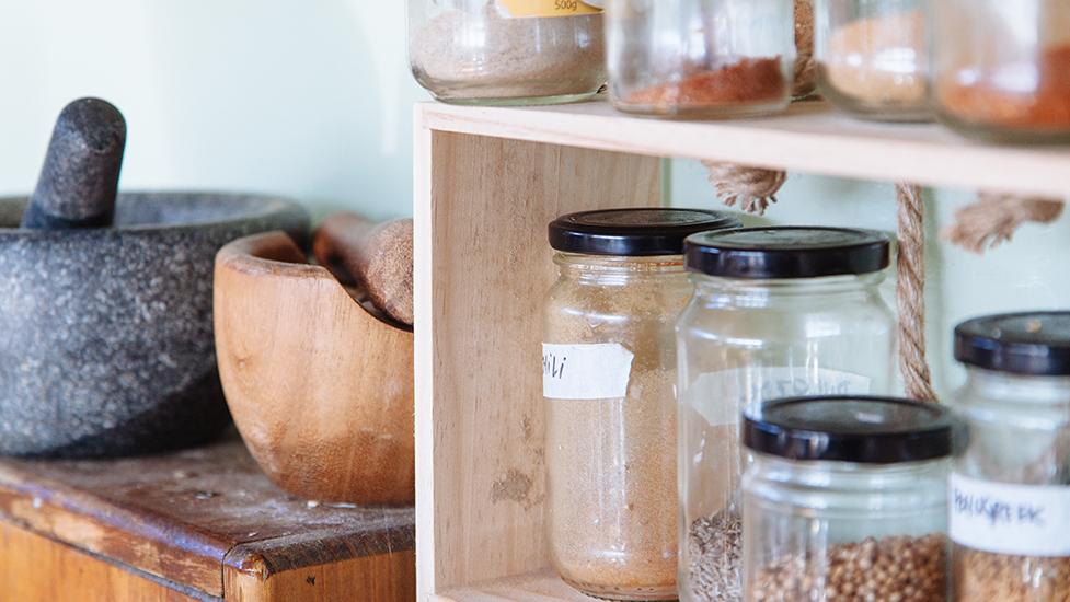 jars in a kitchen
