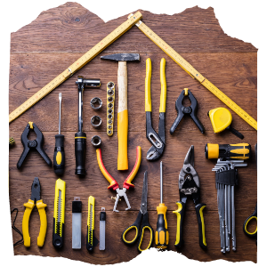 different tools on a table