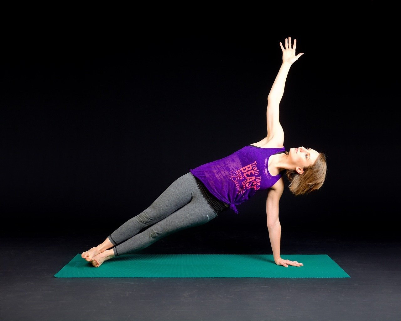 a person performing a plank exercise