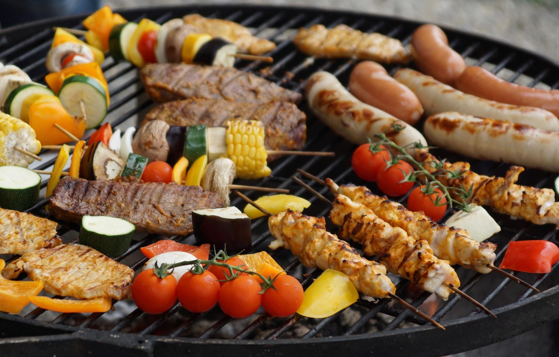 a pan full of food
