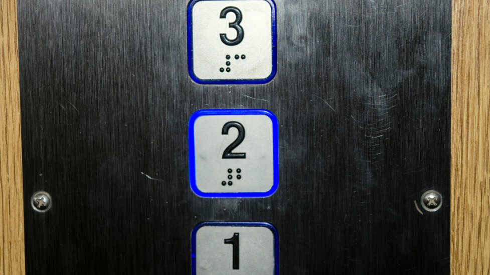 a close up of numbers in a lift