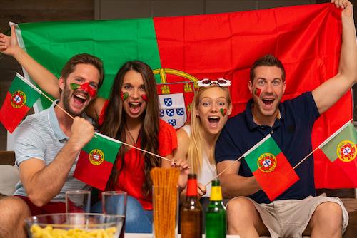 Portugal football fans