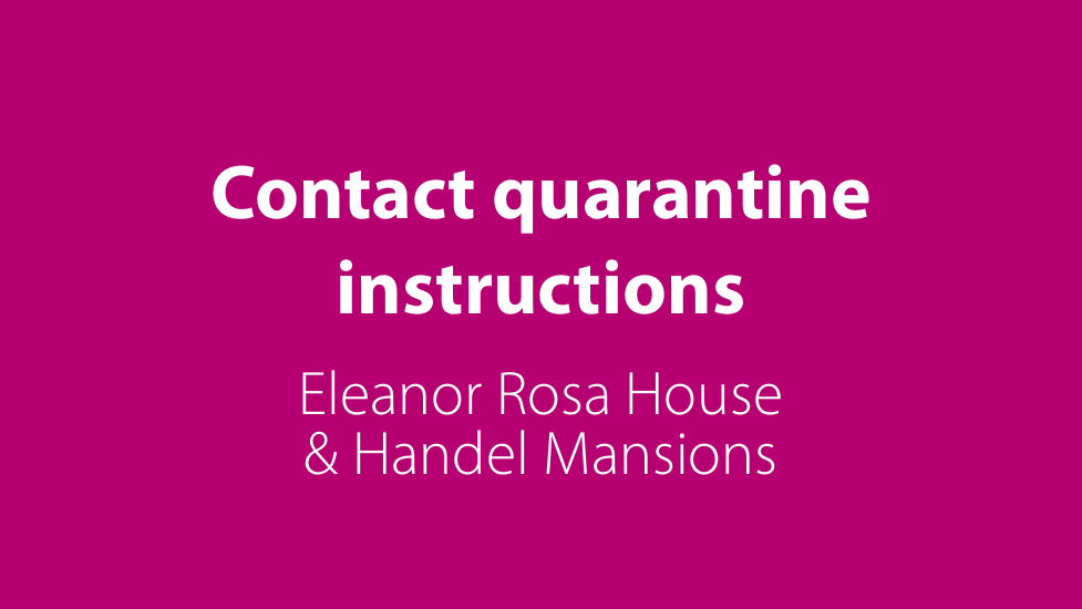 Contact quarantine instructions (ERH & Handel)