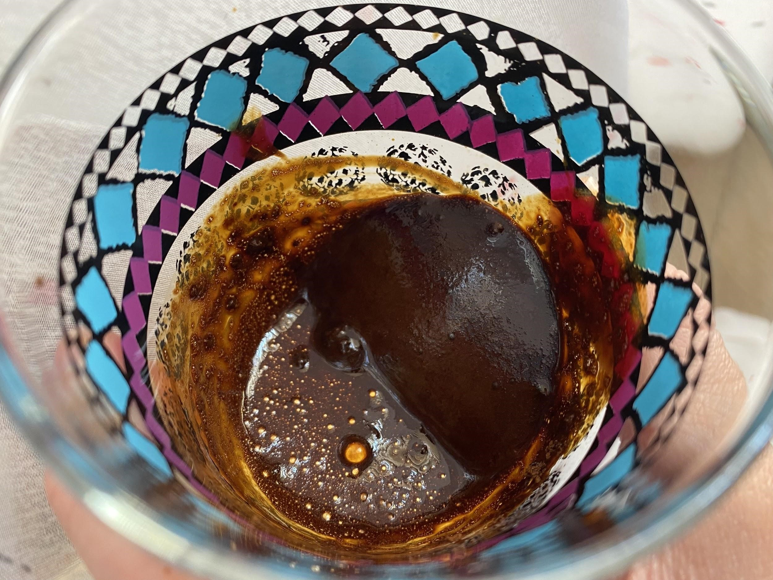 a close up of a coffee in a cup