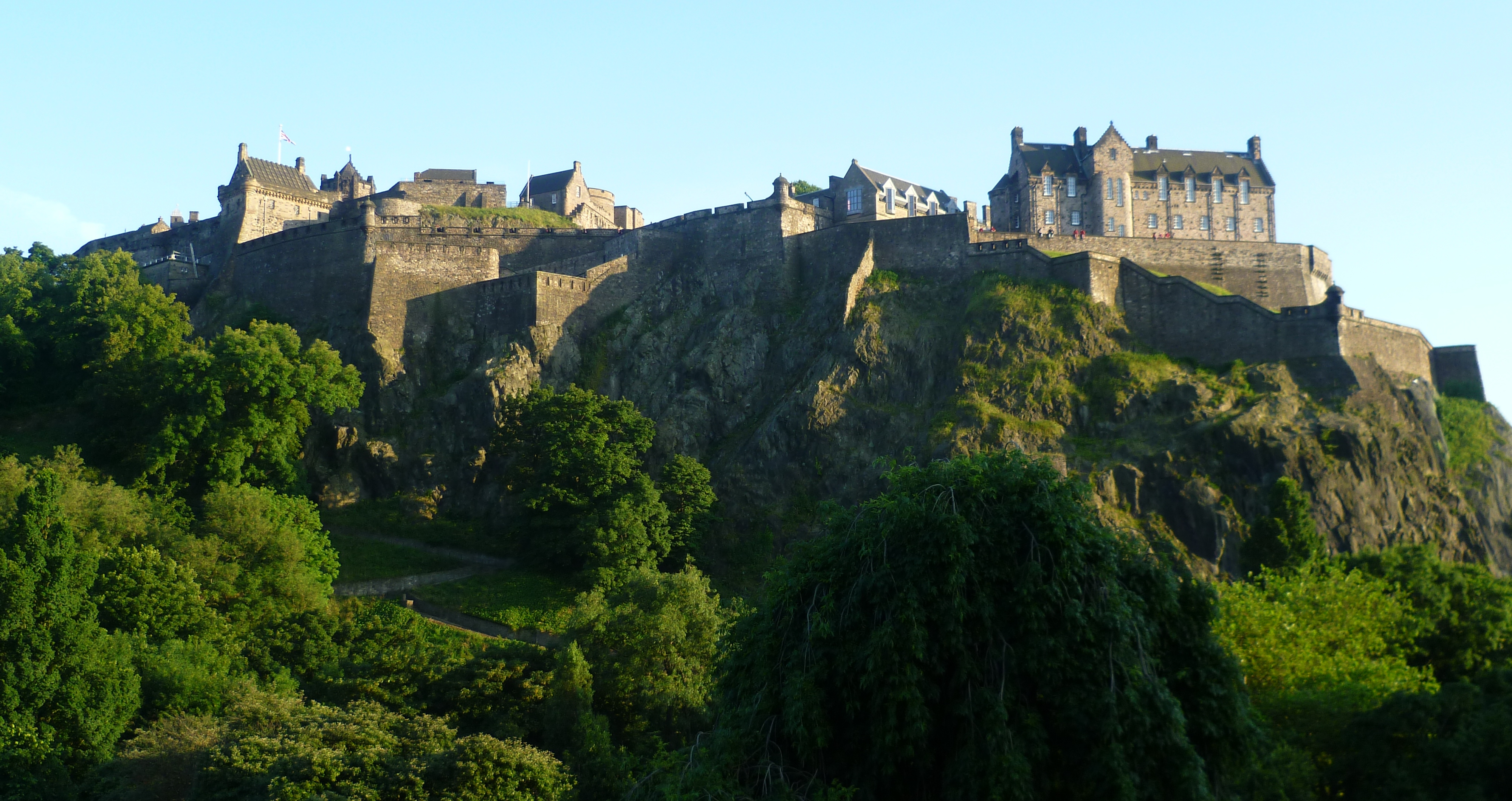 a castle on a hill with Edinburgh Castle in the background